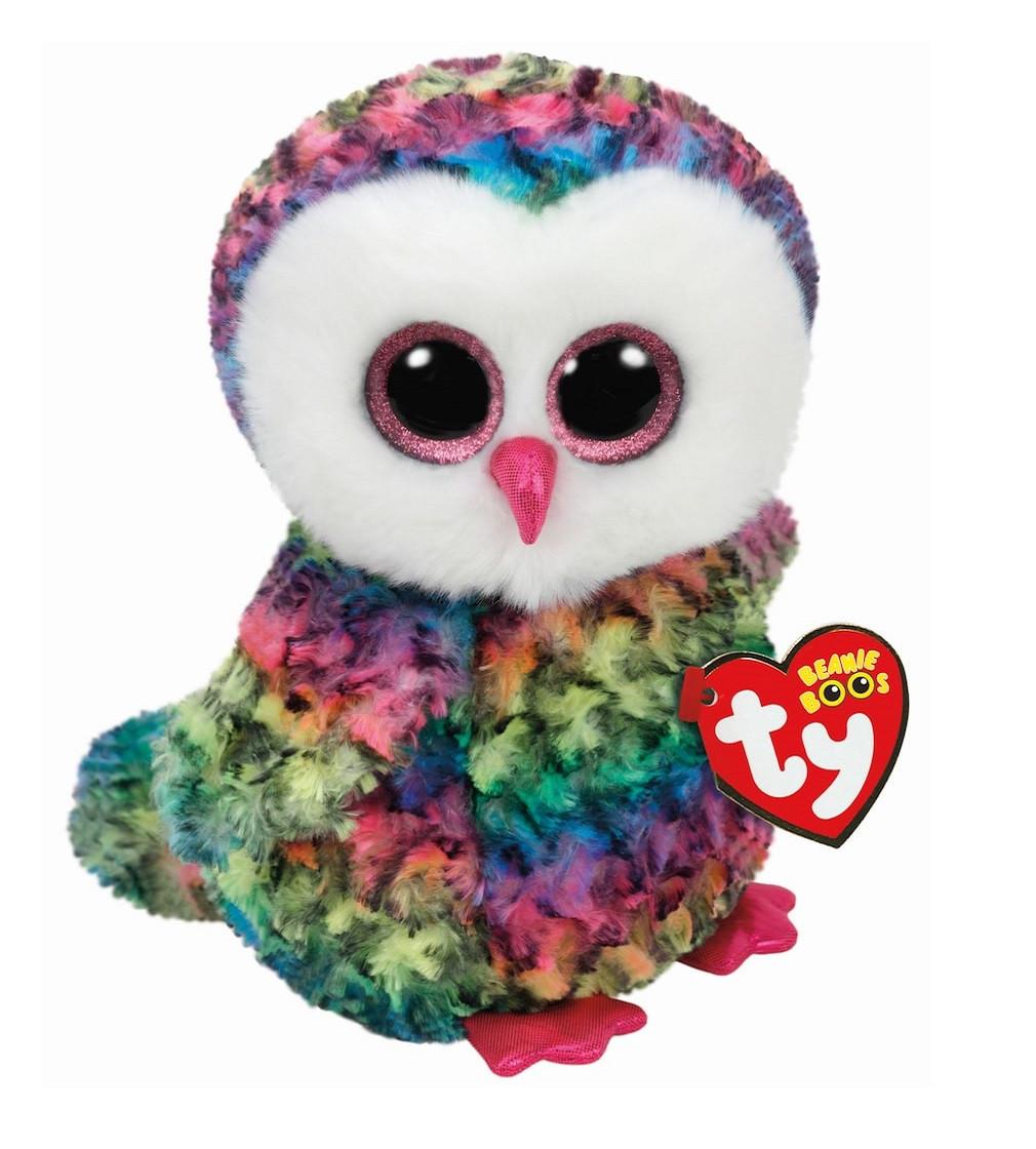 Купити М'яка іграшка TY Beanie Boo's Multicolored Owl Owen - фото 1