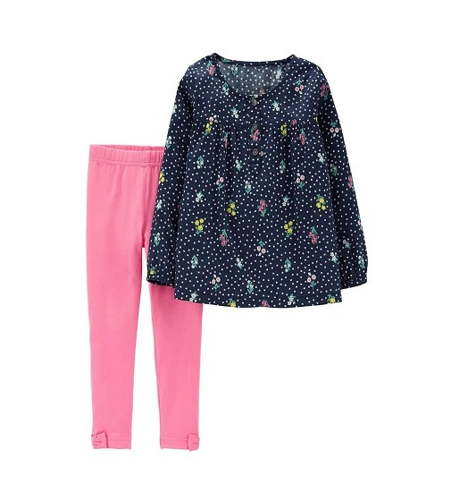 Купити Набір 2-Piece Floral Sateen Top & Legging Set Carters (259g829) - фото 1