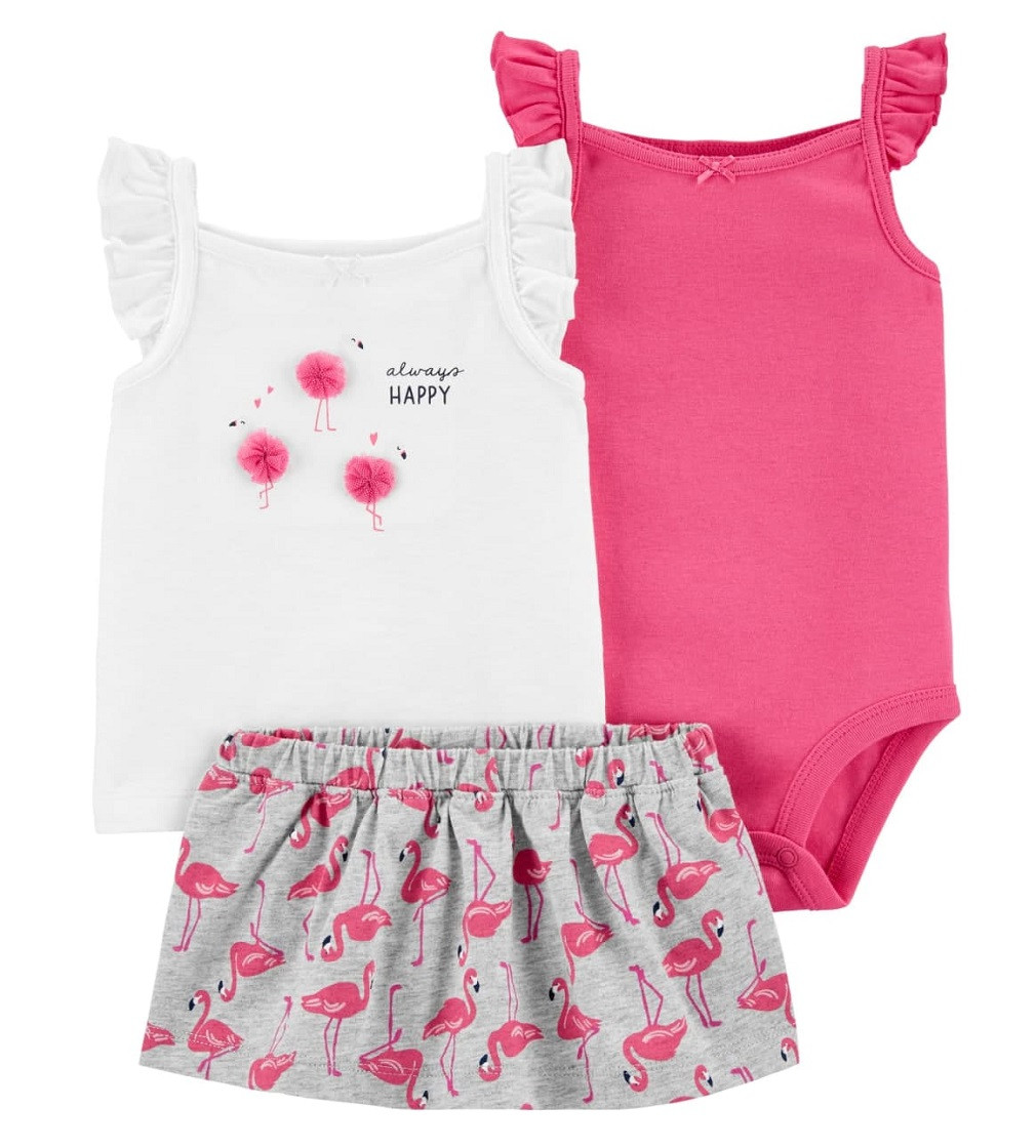 Купити Костюм 3в1 Carters Flamingo Pink/White - фото 1