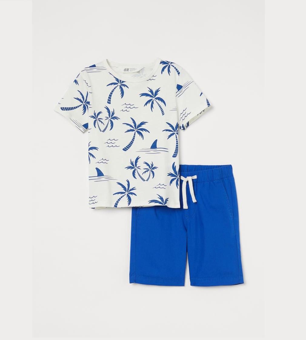 Купити Набір H&M Cobalt blue/Palm trees - фото 1