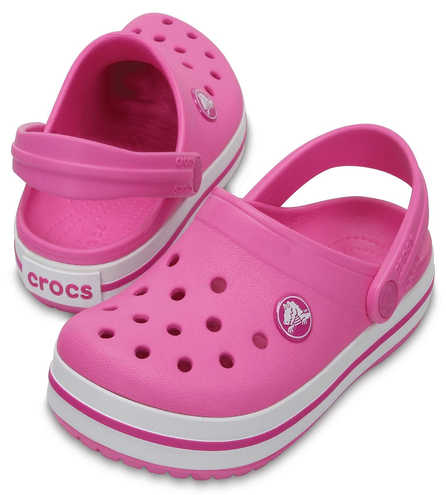 Купити Дитячі сабо Crocs Crocband™ Clog party pink - фото 1
