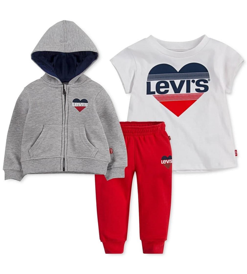Купити Костюм на флісі Levi's Red / Grey - фото 1