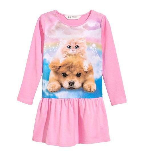 Купити Сукня H&M Трикотажне: Рожевий / Тварини - фото 1