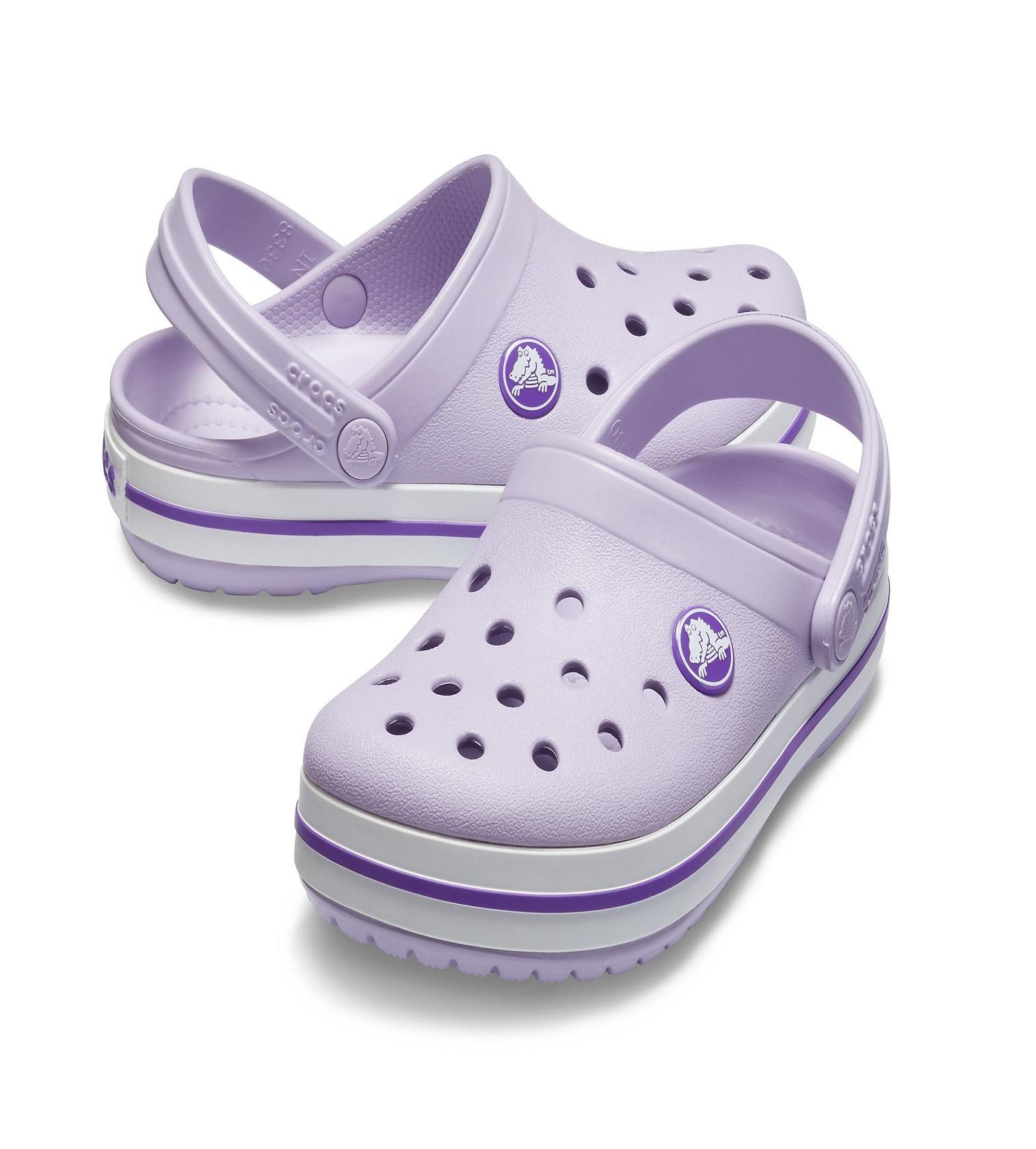 Купити Дитячі сабо CROCS Crocband ™ clog: Lavender / Neon Purple - фото 1