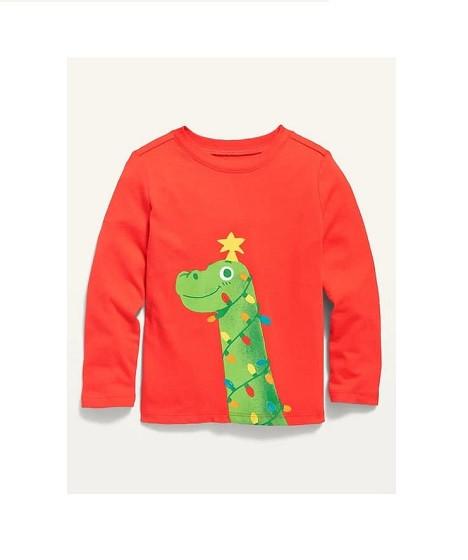 Купити Реглан Новорічний Динозавр і гірлянда - фото 1