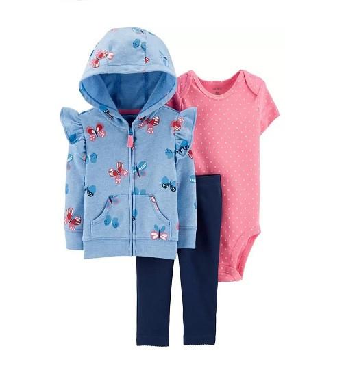 Купити Костюм 3-Piece Butterfly Little Jacket Set Carters (1h292210) - фото 1