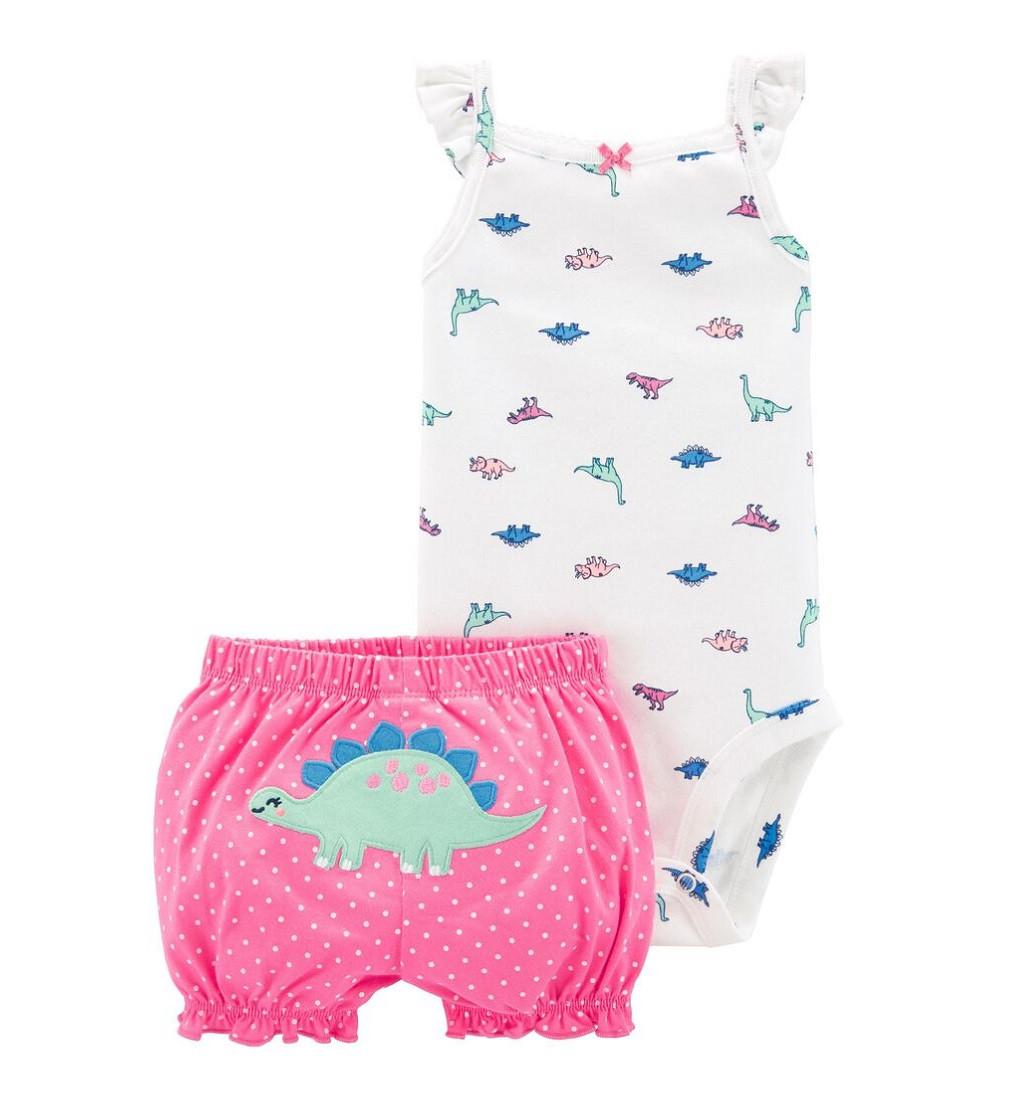 Купити Набір Carters Dinosaur White/Pink - фото 1