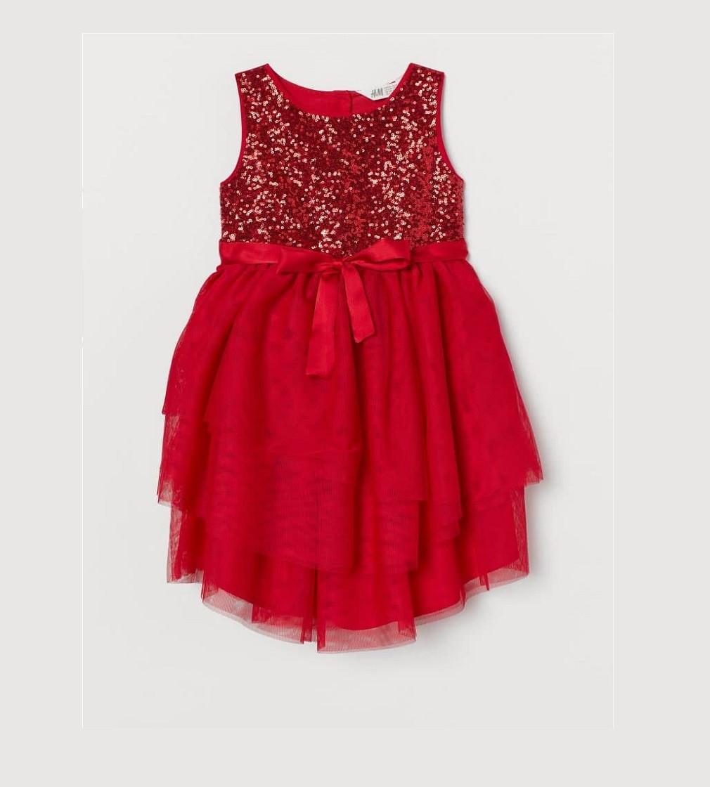Купити Сукня ошатна H&M Glittery tulle dress: Red - фото 1