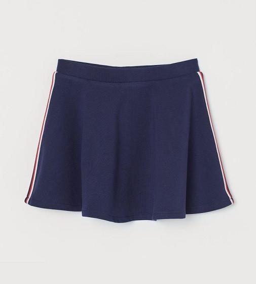 Купити Спідниця трикотажна H & M: Темно-синій / Лампаси - фото 1