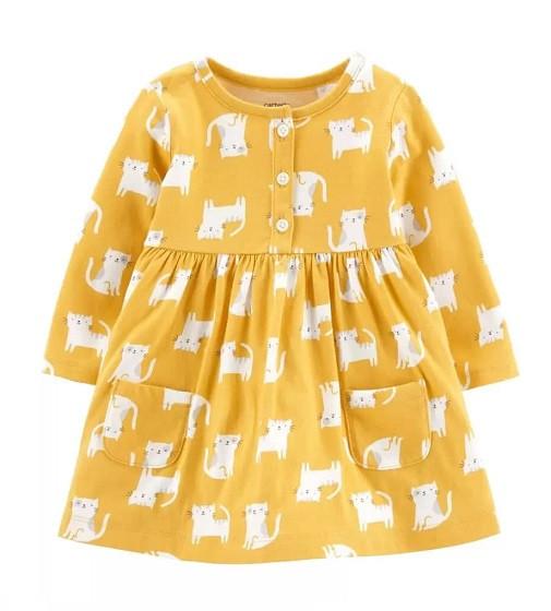 Купити Сукня з трусиками Carters Cat: Yellow - фото 1