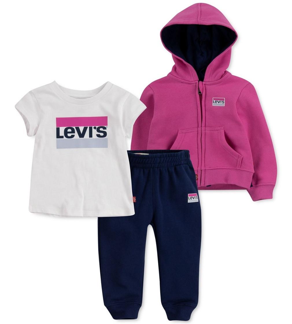 Купити Костюм на флісі Levi's  Navy / Pink - фото 1