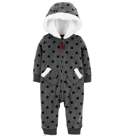 Купити Комбінезон флісовий Carters Hooded Polka Dot Fleece: Multi - фото 1