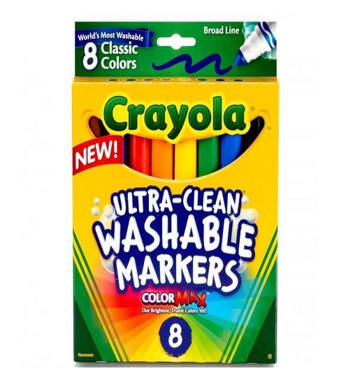 Купити Фломастери Crayola Washable Крайола на водній основі 8 кольорів - фото 1
