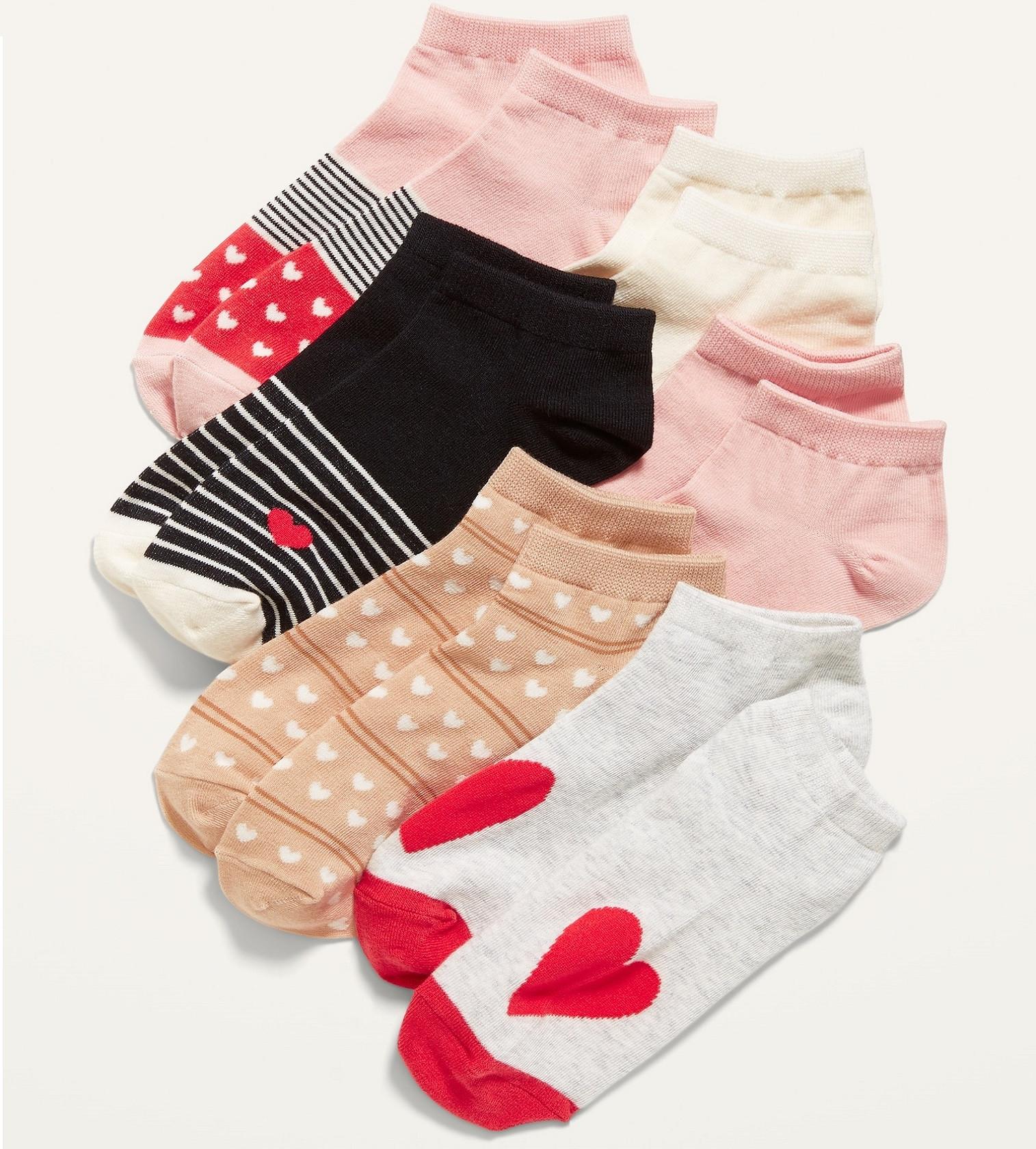 Купити Набір шкарпеток Socks 6-Pack Old Navy Heart Stripe - фото 1