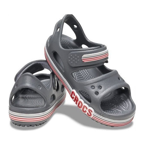 Купити Сандалі Crocs Crocband Logo Stripe Slate Grey - фото 1