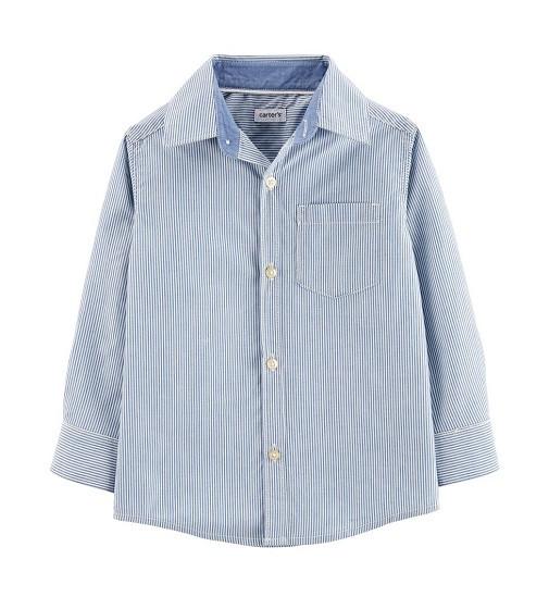 Купити Сорочка Carters Striped Chambray Blue - фото 1