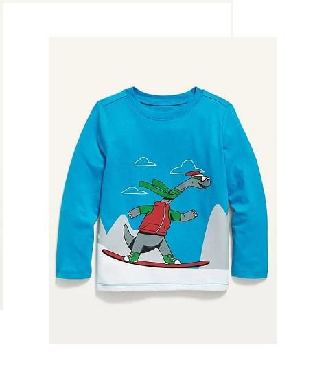 Купити Реглан Динозавр на снігу - фото 1