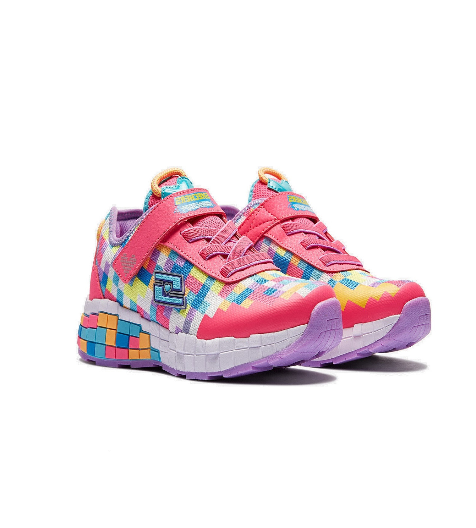 Купити Кросівки Skechers Sport - Power Pixels: Neon Pink / Multi - фото 1