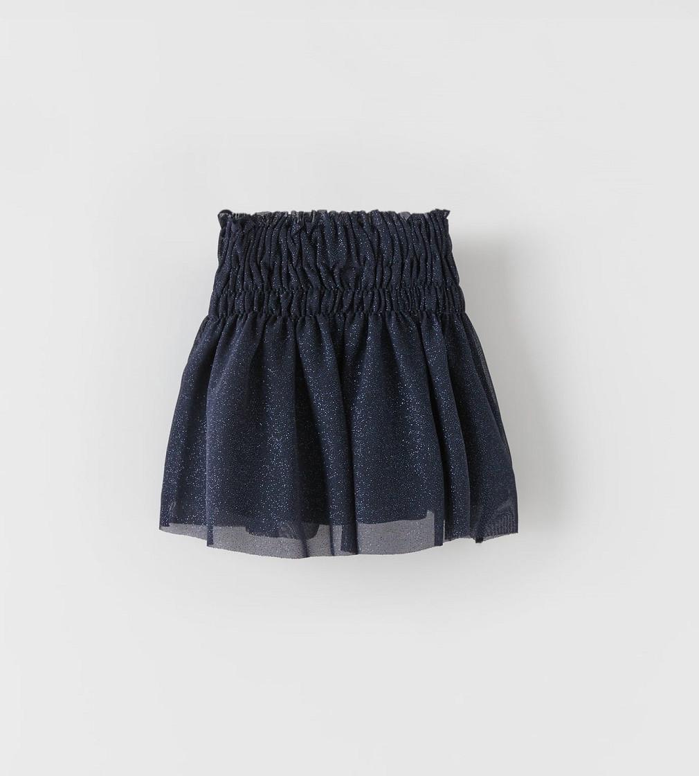 Купити Спідниця фатінова Zara Блискавки: темно синій - фото 1