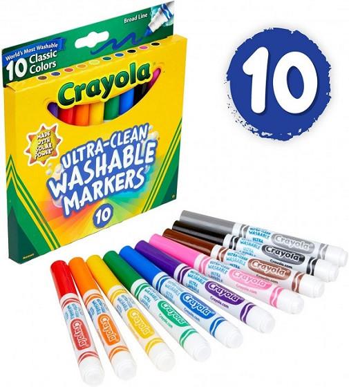 Купити Фломастери Crayola Змиваються Washable Broad Line Markers 10 шт - фото 1