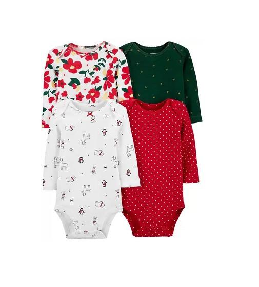 Купити Набір боді 4-Pack Holiday Original Bodysuits Carters (18485510) - фото 1