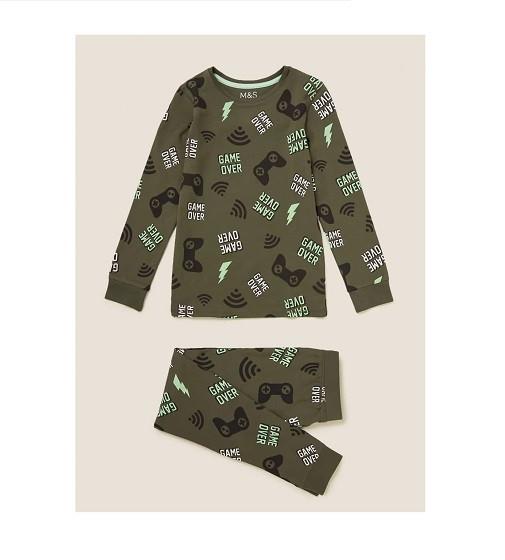 Купити Піжама Cotton Gaming Pyjama Set M&S (T86/5352E) - фото 1