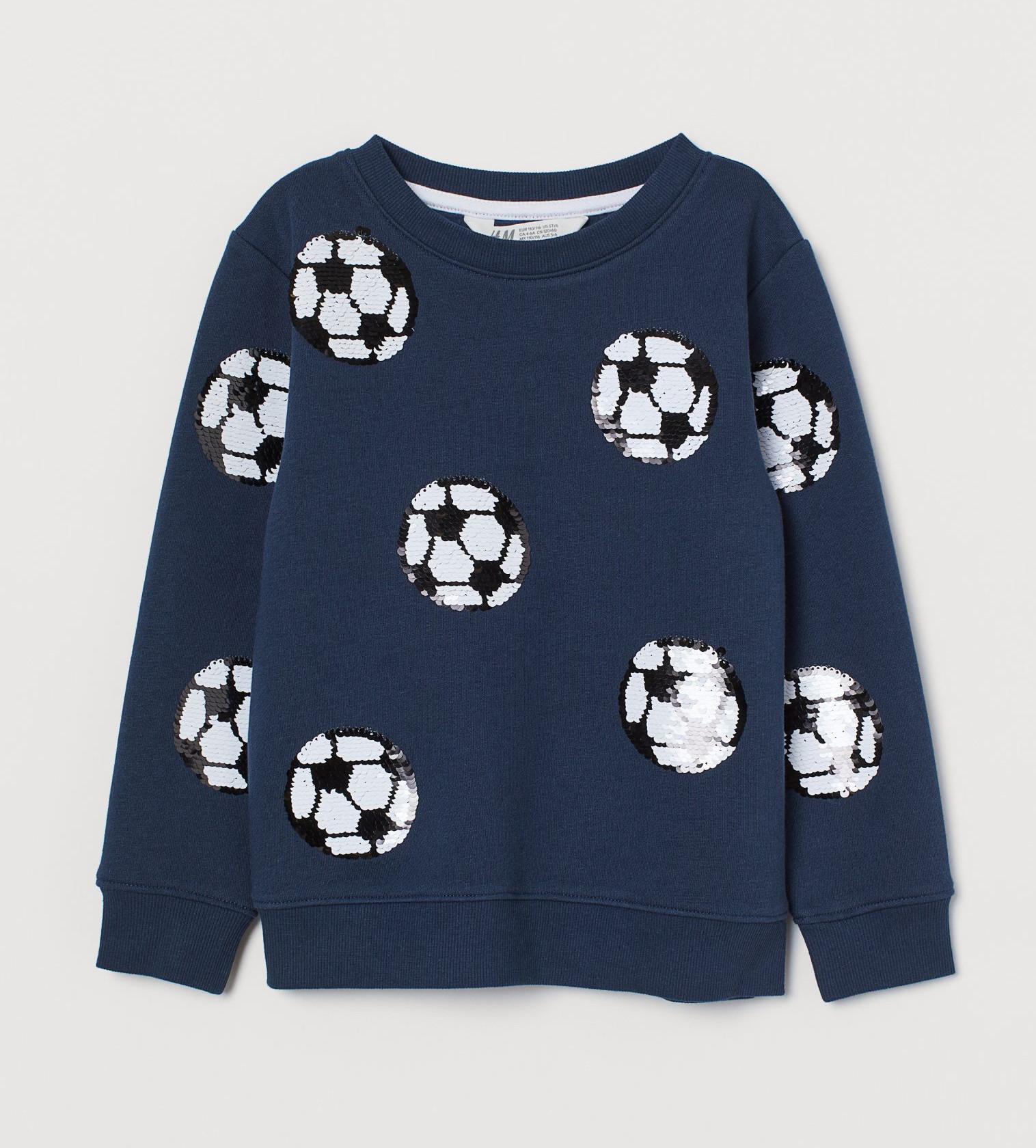 Купити Світшот H&M з паєтками футбольних м'ячів - фото 1
