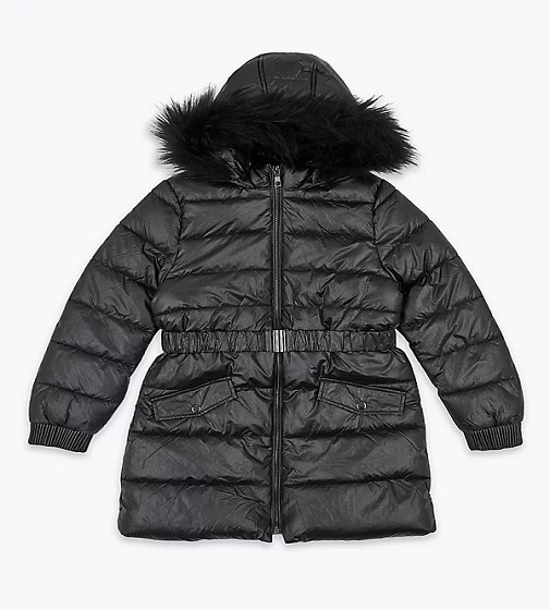 Купити Пальто дута Чорне блискуче (t74/2479j) - фото 1