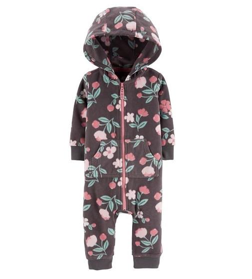 Купити Комбінезон флісовий Carters Hooded Floral: Multi - фото 1