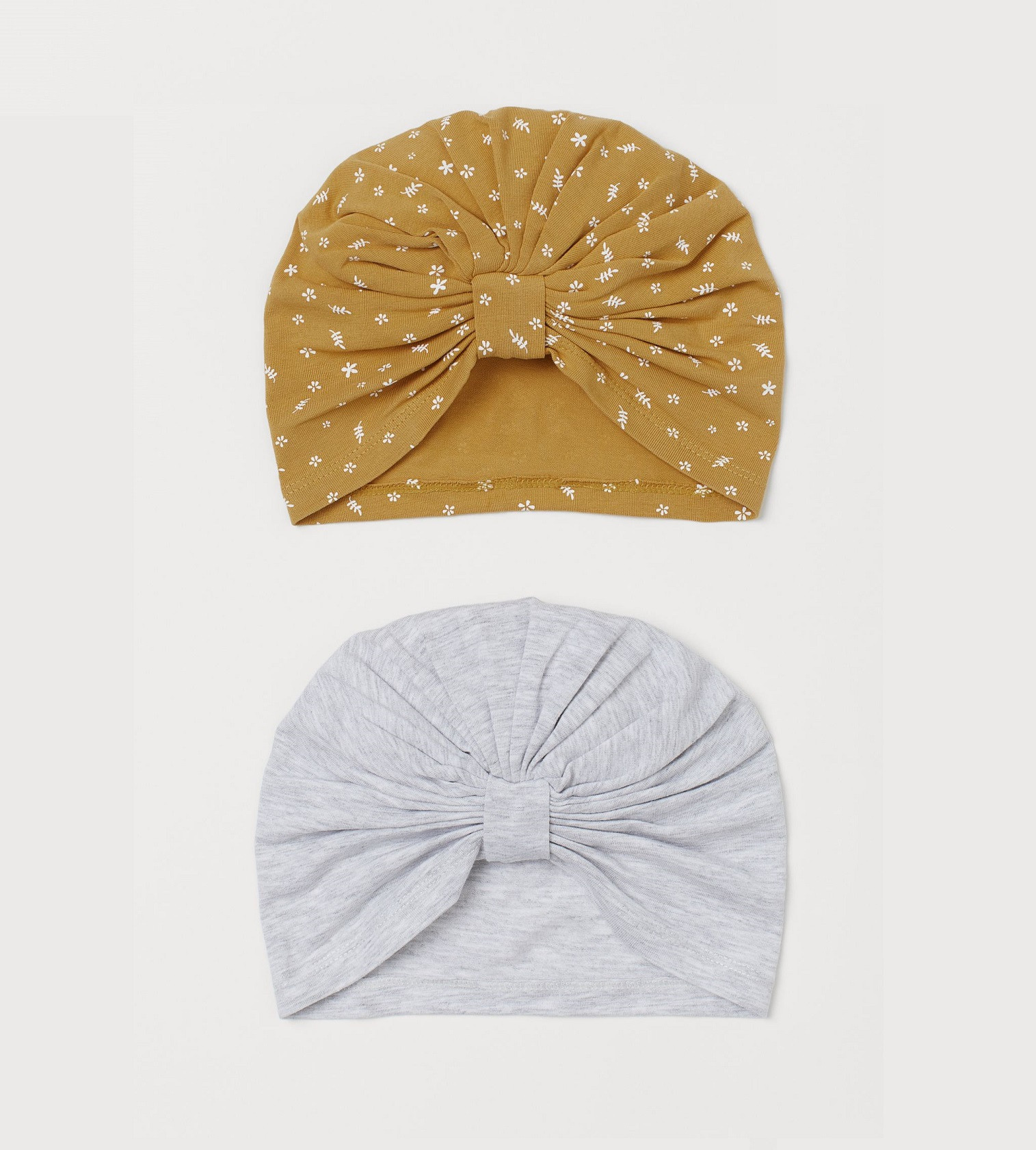 Купити Набір тюрбанів H&M 2-pack cotton turbans: Yellow/Floral - фото 1