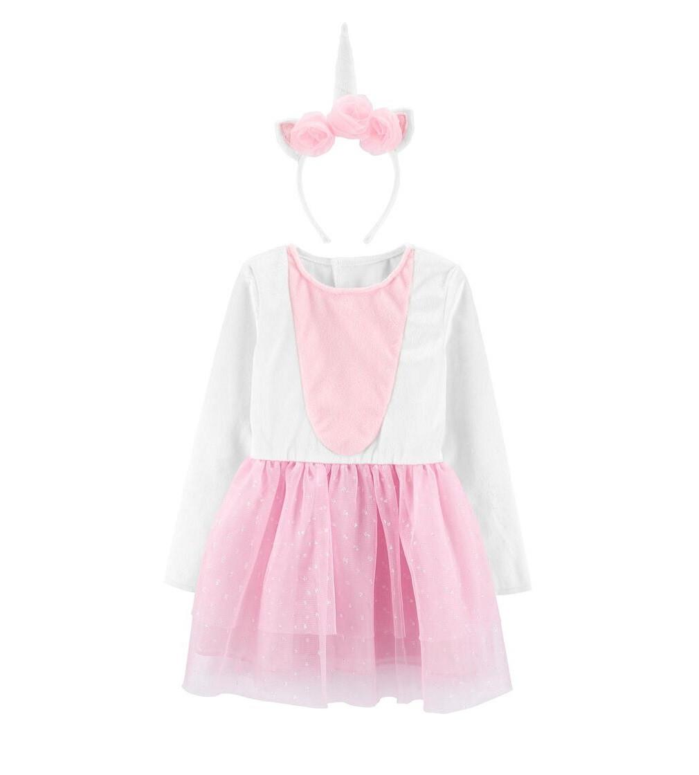 Купити Сукня і обруч Carters Little Unicorn Pink/White - фото 1