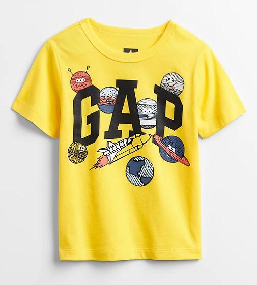 Купити Футболка Gap bright yellow lemon meringue - фото 1