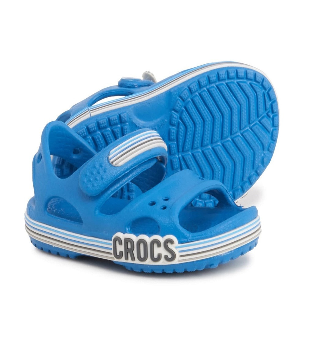 Купити Сандалі Crocs Crocband Logo Stripe Prep Blue - фото 1