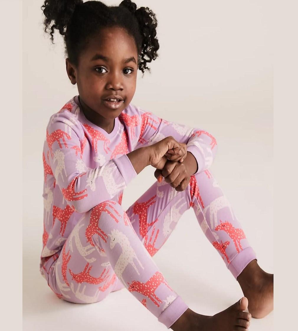 Купити Піжама M & S Cotton Unicorn Lilac Mix - фото 1