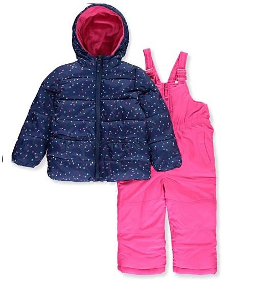 Купити Зимовій комплект Pink Platinum Baby Girls' Insulated Two-Piece Snowsuit (pp838916) - фото 1