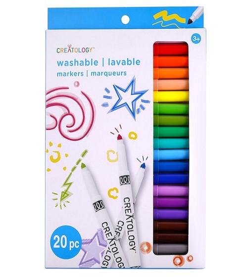 Купити Фломастери миючі Color Round Tip Washable Marker Set by Creatology® 20 шт - фото 1