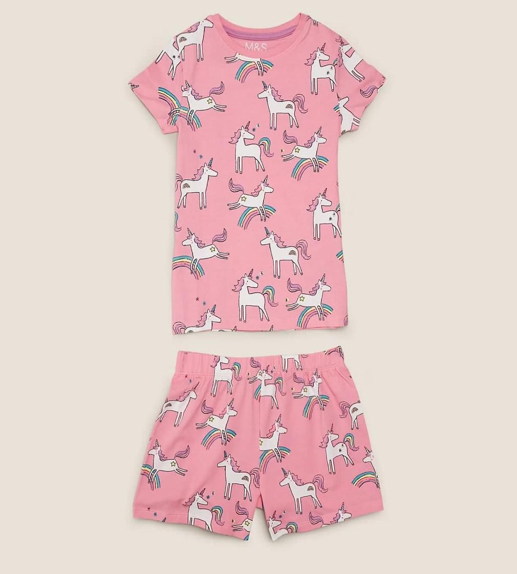 Купити Піжама M & S Cotton Unicorn Pink Mix - фото 1