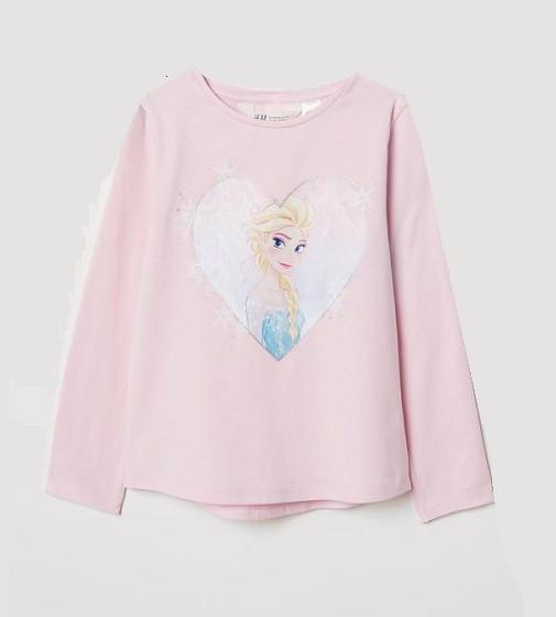 Купити Реглан H&M Блідо-рожевий / Холодне серце - фото 1