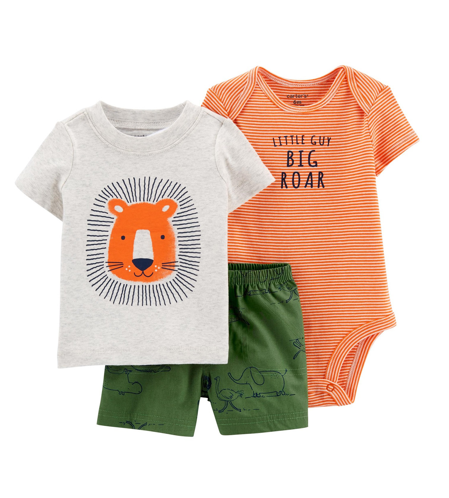 Купити Костюм 3в1 Carters  Lion Orange/Green - фото 1