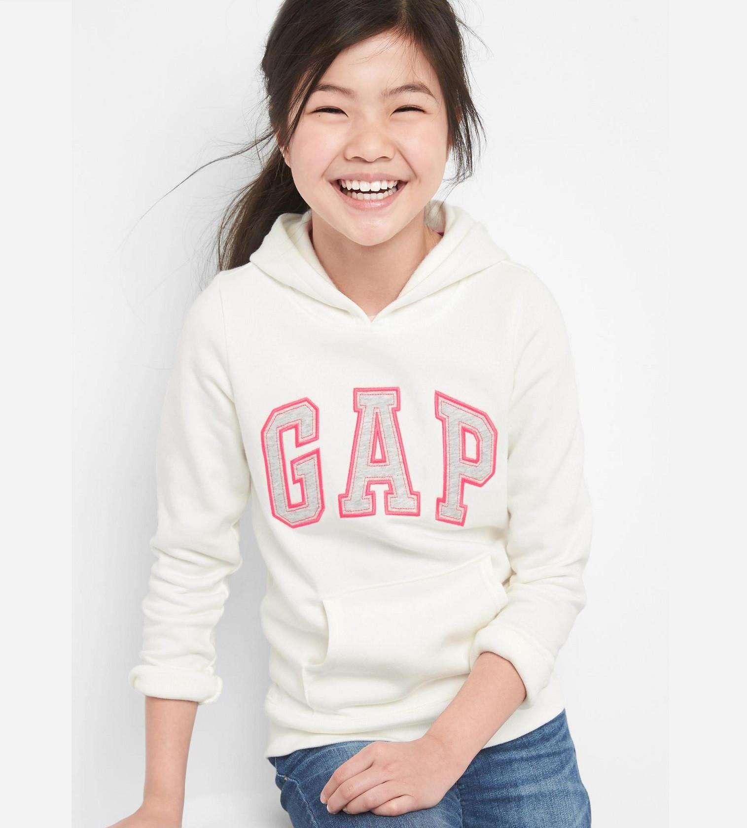 Купити Худі на флісі Gap Logo Hoodie: white - фото 1