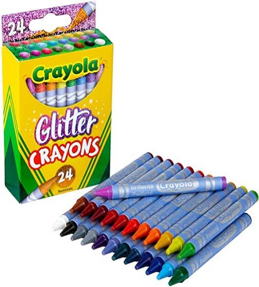 Купити Воскові олівці Crayola Glitter Crayons 24шт. - фото 1