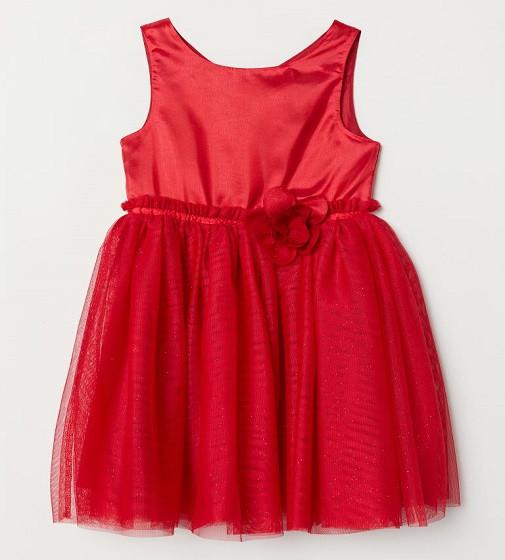 Купити Сукня ошатна H&M tulle skirt: Червоний / Блискітки - фото 1