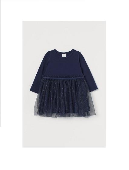 Купити Сукня синя ошатна з фатином - фото 1