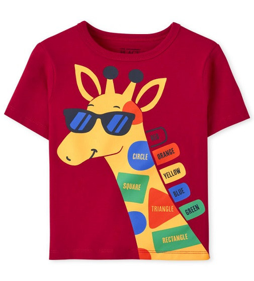 Купити Футболка Childrens place Giraffe Classic Red - фото 1