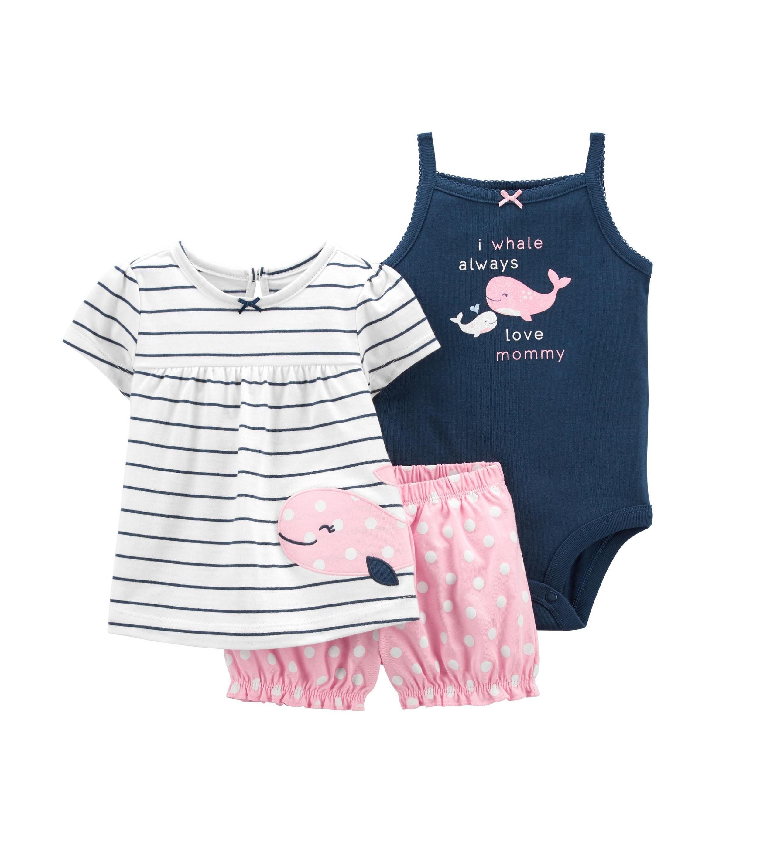 Купити Костюм 3в1 Carters I Whale Always Love Mommy - фото 1