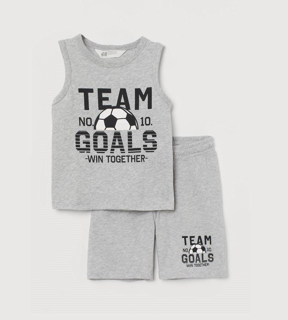 Купити Набір H&M Сірий меланж / Футбольний м'яч - фото 1