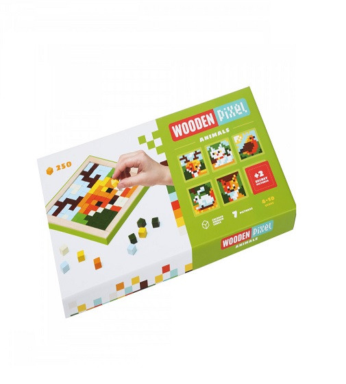 Купити Набір мозаїки Cubika Wooden pixel 3 Тварини 14897 - фото 1