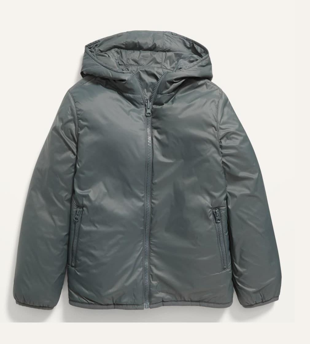 Купити Двостороння куртка Old Navy 610114 на блискавці з капюшоном на підкладці з шерпи - фото 1