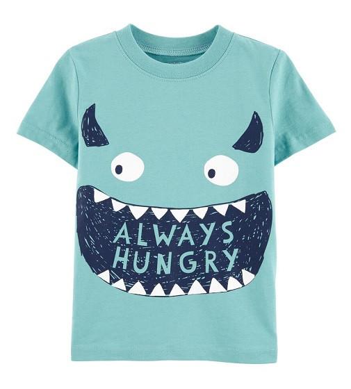 Купити Футболка Carters Always Hungry Monster: Turquoise - фото 1