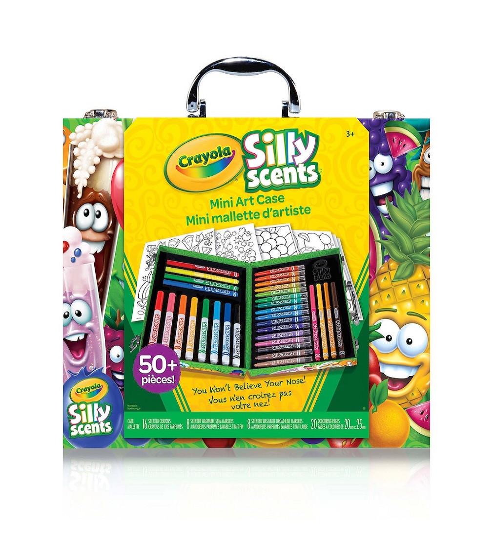 Купити Набір для розфарбовування Crayola Silly Scents Mini Art Case в кейсі 50+ (асорті) - фото 1